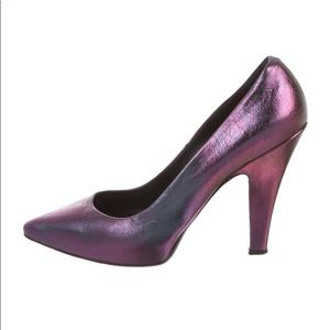 Iridescent Leather Pumps by Vivienne  Westwood